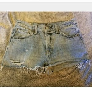 Levi's Premium Button Fly Jean Shorts Size 27
